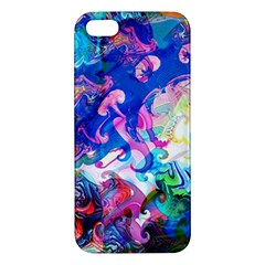 Background Art Abstract Watercolor Apple Iphone 5 Premium Hardshell Case by Nexatart