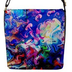 Background Art Abstract Watercolor Flap Messenger Bag (s)