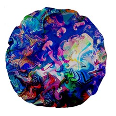 Background Art Abstract Watercolor Large 18  Premium Flano Round Cushions