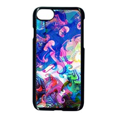Background Art Abstract Watercolor Apple Iphone 7 Seamless Case (black) by Nexatart