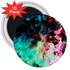 Background Art Abstract Watercolor 3  Magnets (10 Pack)