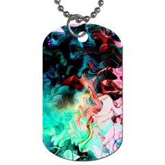 Background Art Abstract Watercolor Dog Tag (one Side)