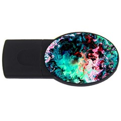 Background Art Abstract Watercolor Usb Flash Drive Oval (2 Gb)