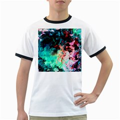 Background Art Abstract Watercolor Ringer T Shirts