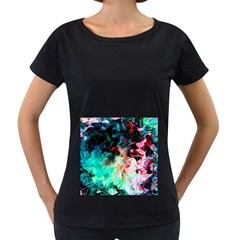 Background Art Abstract Watercolor Women s Loose Fit T Shirt (black)