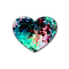 Background Art Abstract Watercolor Heart Coaster (4 Pack)