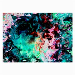 Background Art Abstract Watercolor Large Glasses Cloth (2 Side)