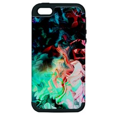 Background Art Abstract Watercolor Apple Iphone 5 Hardshell Case (pc+silicone)