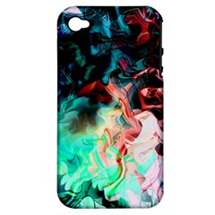 Background Art Abstract Watercolor Apple Iphone 4/4s Hardshell Case (pc+silicone)
