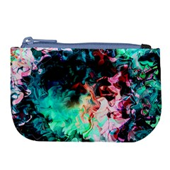 Background Art Abstract Watercolor Large Coin Purse by Nexatart