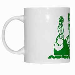 St  Patricks Day  White Mugs by Valentinaart
