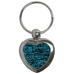 Wall Metal Steel Reflexions Key Chains (heart)  by Nexatart