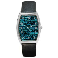 Wall Metal Steel Reflexions Barrel Style Metal Watch by Nexatart
