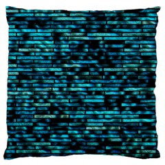 Wall Metal Steel Reflexions Large Flano Cushion Case (two Sides) by Nexatart