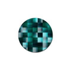 Background Squares Metal Green Golf Ball Marker (10 Pack)