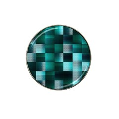 Background Squares Metal Green Hat Clip Ball Marker
