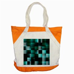 Background Squares Metal Green Accent Tote Bag by Nexatart