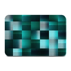 Background Squares Metal Green Plate Mats