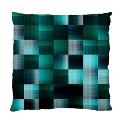 Background Squares Metal Green Standard Cushion Case (one Side)