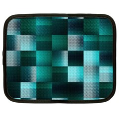 Background Squares Metal Green Netbook Case (xxl)