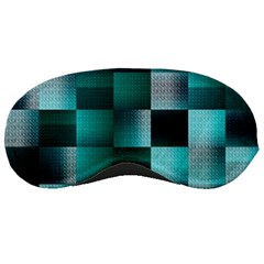 Background Squares Metal Green Sleeping Masks