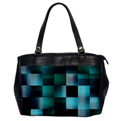 Background Squares Metal Green Office Handbags
