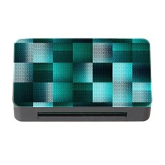 Background Squares Metal Green Memory Card Reader With Cf by Nexatart