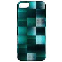 Background Squares Metal Green Apple Iphone 5 Classic Hardshell Case