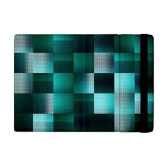 Background Squares Metal Green Apple Ipad Mini Flip Case