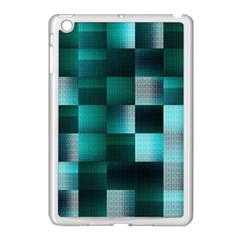 Background Squares Metal Green Apple Ipad Mini Case (white)