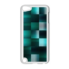 Background Squares Metal Green Apple Ipod Touch 5 Case (white)