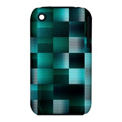 Background Squares Metal Green Iphone 3s/3gs by Nexatart