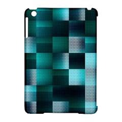Background Squares Metal Green Apple Ipad Mini Hardshell Case (compatible With Smart Cover) by Nexatart