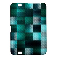 Background Squares Metal Green Kindle Fire Hd 8 9  by Nexatart