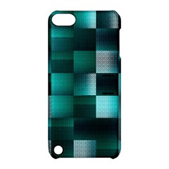 Background Squares Metal Green Apple Ipod Touch 5 Hardshell Case With Stand