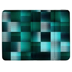 Background Squares Metal Green Samsung Galaxy Tab 7  P1000 Flip Case