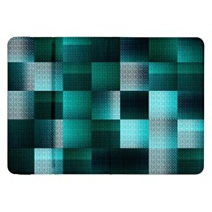 Background Squares Metal Green Samsung Galaxy Tab 8 9  P7300 Flip Case