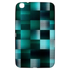 Background Squares Metal Green Samsung Galaxy Tab 3 (8 ) T3100 Hardshell Case