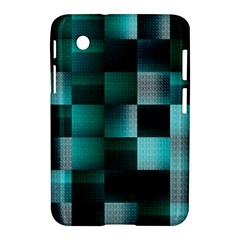 Background Squares Metal Green Samsung Galaxy Tab 2 (7 ) P3100 Hardshell Case  by Nexatart