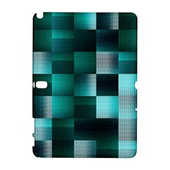 Background Squares Metal Green Galaxy Note 1