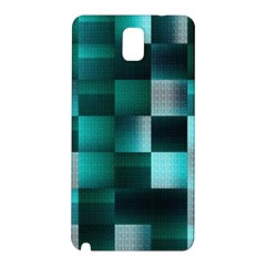 Background Squares Metal Green Samsung Galaxy Note 3 N9005 Hardshell Back Case