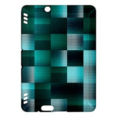 Background Squares Metal Green Kindle Fire Hdx Hardshell Case