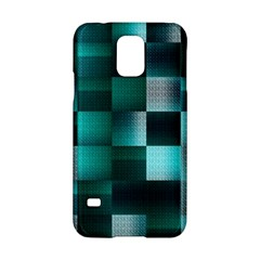 Background Squares Metal Green Samsung Galaxy S5 Hardshell Case