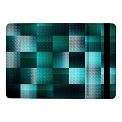 Background Squares Metal Green Samsung Galaxy Tab Pro 10 1  Flip Case