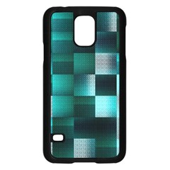 Background Squares Metal Green Samsung Galaxy S5 Case (black)