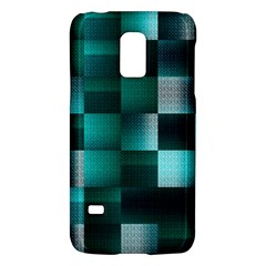 Background Squares Metal Green Galaxy S5 Mini