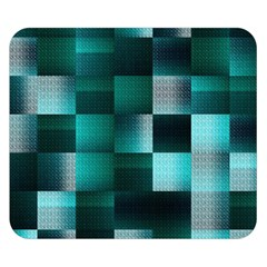 Background Squares Metal Green Double Sided Flano Blanket (small)