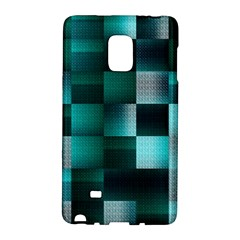 Background Squares Metal Green Galaxy Note Edge