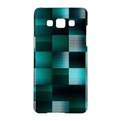 Background Squares Metal Green Samsung Galaxy A5 Hardshell Case