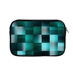 Background Squares Metal Green Apple Macbook Pro 13  Zipper Case by Nexatart